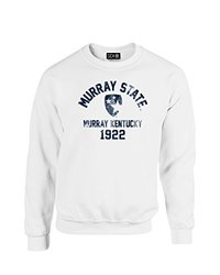 NCAA Murray State Racers Mascot Block Arch Crew Neck Sweatshirt, X-Large, White