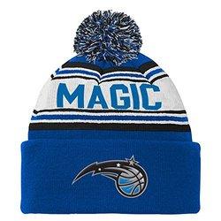 NBA Orlando Magic Youth Boys 8-20 Cuffed Knit Hat with Pom, Blue, 1 Size