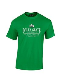 NCAA Delta State Statesmen Classic Seal T-Shirt, Small, Irish Green