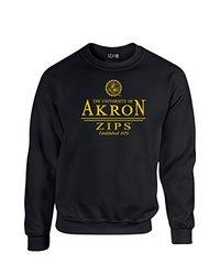 NCAA Akron Zips Classic Seal Crew Neck Sweatshirt, XX-Large, Black