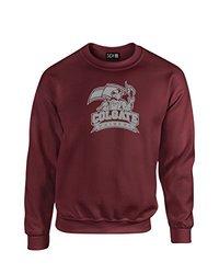 NCAA Colgate Raiders Mascot Foil Crew Neck Sweatshirt, Large, Maroon
