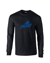 NCAA Florida Gulf Coast Eagles Mascot Foil Long Sleeve T-Shirt, XX-Large, Black