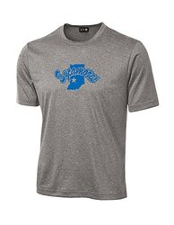 NCAA Indiana State Sycamores School Standard Mascot Tech Performance T-Shirt, XX-Large, Sport Grey