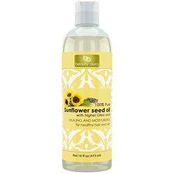 Beauty Aura 100% Pure Sunflower Oil, 16 Fl Ounce