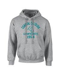 NCAA Coastal Carolina Chanticleers Mascot Block Arch Long Sleeve Hoodie, Small, Sport Grey