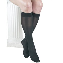 GABRIALLA Sheer Knee Highs, Compression (23-30 mmHg) Black, XLarge, 3 Count