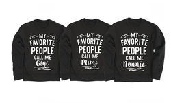 Women's Grandparent Crewneck Fleece: My Favorite People Nonnie/xl