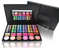 All In 1 Compact High Quality Makeup Palette In Slim Case With Built In Mirror And 2 Brushes