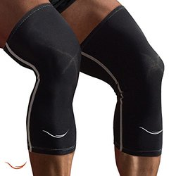 Rikedom Sports Compression Knee Sleeves, Black, Small (1 Pair)