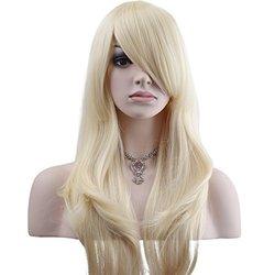 "YOPO 28"" Wig Long Big Wavy Hair Women Cosplay Party Costume Wig (Light Blonde)"