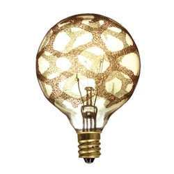 Bulbrite INC G16 1/2 25W Dimmable Marble Amber K (102) 4