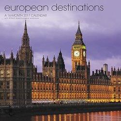 European Destinations Wall Calendar (2017)