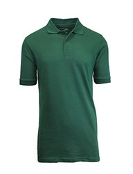 Men's Premium Quality Pique Polo -hunter Green-large