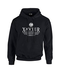 NCAA Unisex Xavier Musketeers Classic Seal Long Sleeve Hoodie - Blk -Small