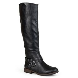 Journee Collection Women's Knee-High Riding Boots - Black - Size: 8.5