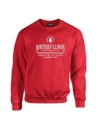 NCAA Northern Illinois Huskies Classic Seal Crew Neck Sweatshirt, Medium, Red