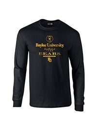 NCAA Baylor Bears Stacked Vintage Long Sleeve T Shirt - Black - Size: L