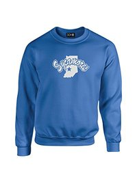 NCAA Indiana State Sycamores Mascot Foil Crew Neck Sweatshirt, Small, Royal