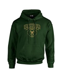 NCAA Baylor Bears Mascot Foil Long Sleeve Hoodie, Small, Forest
