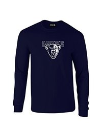 NCAA Maine Black Bears Mascot Foil Long Sleeve T-Shirt - Navy - XXL