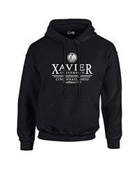 NCAA Unisex Xavier Musketeers Classic Seal Long Sleeve Hoodie - Blk - XXL