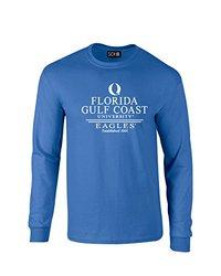 NCAA Florida Gulf Coast Eagles Classic Seal Long Sleeve T-Shirt, Medium, Royal