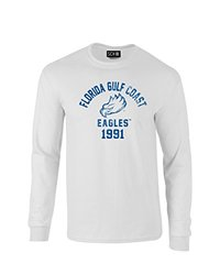 NCAA Florida Gulf Coast Eagles Mascot Block Arch Long Sleeve T-Shirt, Large, White
