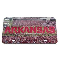 NCAA Arkansas Razorbacks Stadium Crystal Mirror License Plate, 6 x 12-Inch