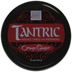 California Exotic Novelties Tantric Soy Candle, Orange Ginger