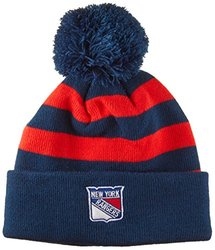 NHL New York Rangers All Striped Out Knit Hat, One Size, Royal