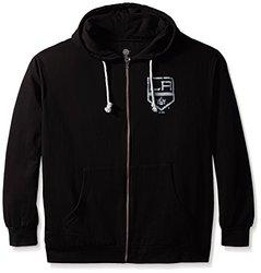 NHL Los Angeles Kings Women's Fleece Logo Screen Print Hoodie-Black-Sz: 2X