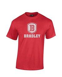 NCAA Bradley Braves Mascot Foil Short Sleeve Tee, X-Large, Red