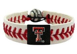 NCAA Texas Tech Red Raiders Classic Baseball Bracelet