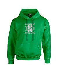 NCAA North Dakota Mascot Foil Long Sleeve Hoodie, Small, Irish Green