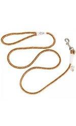Coastal K9 Explorer Reflective Braided Rope Slip Dog Leash - 6' - Orange