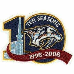 NHL Nashville Predators Logo Patch - 10th Anniversary Logo