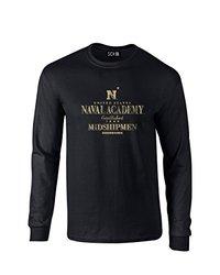 NCAA Navy Midshipmen Stacked Vintage Long Sleeve T-Shirt, XX-Large, Black