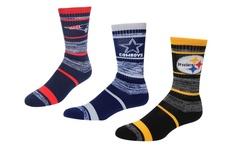 NFL New York Giants Unisex Quad Blend Striped Socks - Size: Medium