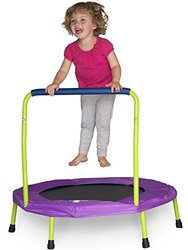 Mini Trampoline with Handle - Lime Green & Purple