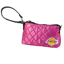 NBA Los Angeles Lakers Pink Quilted Wristlet