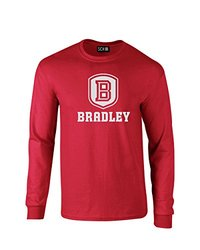NCAA Bradley Braves Mascot Foil Long Sleeve T-Shirt, X-Large, Red