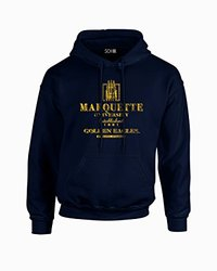 NCAA Marquette Golden Eagles Stacked Vintage Long Sleeve Hoodie, XX-Large, Navy