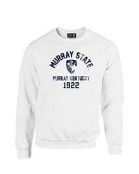 NCAA Murray State Racers Mascot Block Arch Crew Neck Sweatshirt, Large, White