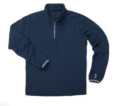 Zorrel Men's Verona 1/4 Zip Fleece Pullover - Navy - Size: Large
