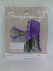Swingline Compact Grip Stapler - 3 ct - Purple