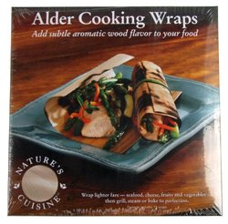 Nature's Cuisine WRP005 12 Alder Cooking Wraps, 6-Inch by 6-Inch