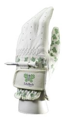 LilyBeth Golf Women's Printed Butterfly Tee Holder Glove (X-Large, Left)