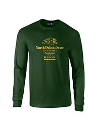 NCAA North Dakota State Stacked Vintage Long Sleeve T-Shirt, Small, Forest