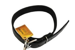 "Dean & Tyler 24""x2-1/2"" Basic Leather Dog Collar w/ Strong Nickel - Black"