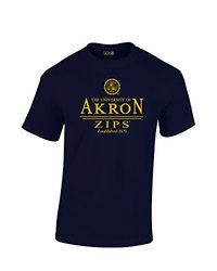 NCAA Akron Zips Classic Seal T-Shirt, Large, Navy
